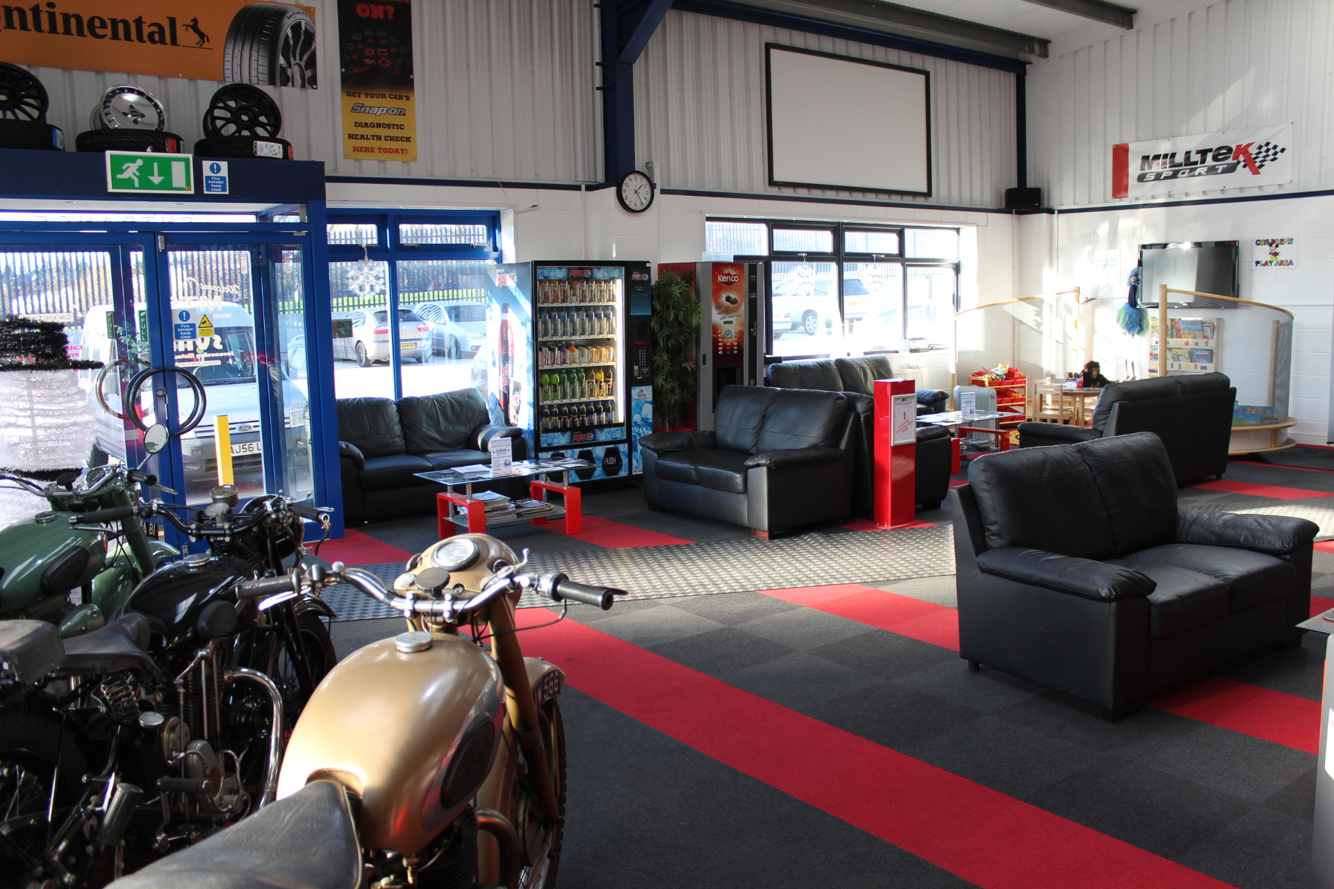 Take a seat whilst waiting for your MOT